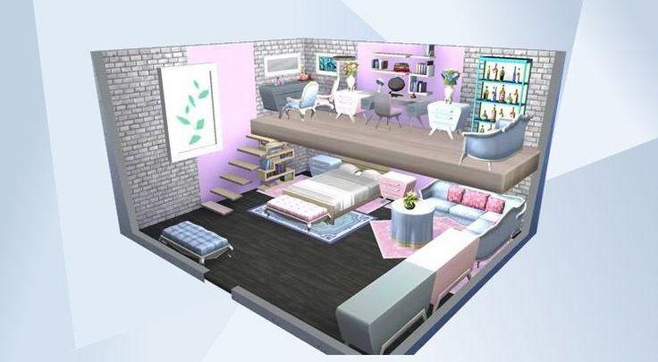 Mira esta habitaci n en la galer a de los sims 4 sims for Dormitorio sims 4