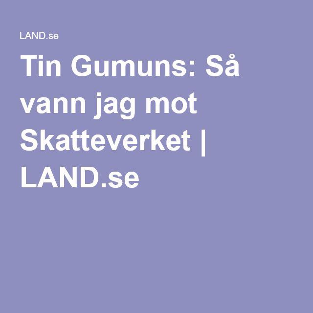 Tin Gumuns: Så vann jag mot Skatteverket | LAND.se