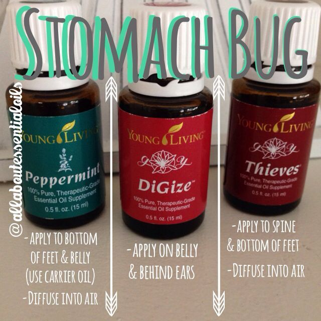 Stomach bug relief! For more useful tips about essential oils, follow AllAboutEs…