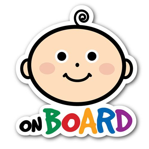 """Kansept's #BabyonBoard Sign has morphed into a new Shaped Cut #Sticker . """"Weather and Wash proof"""""""