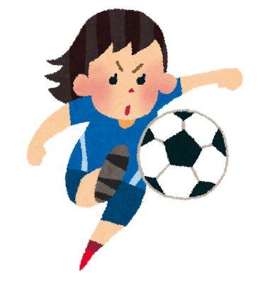 女子サッカー選手のイラスト