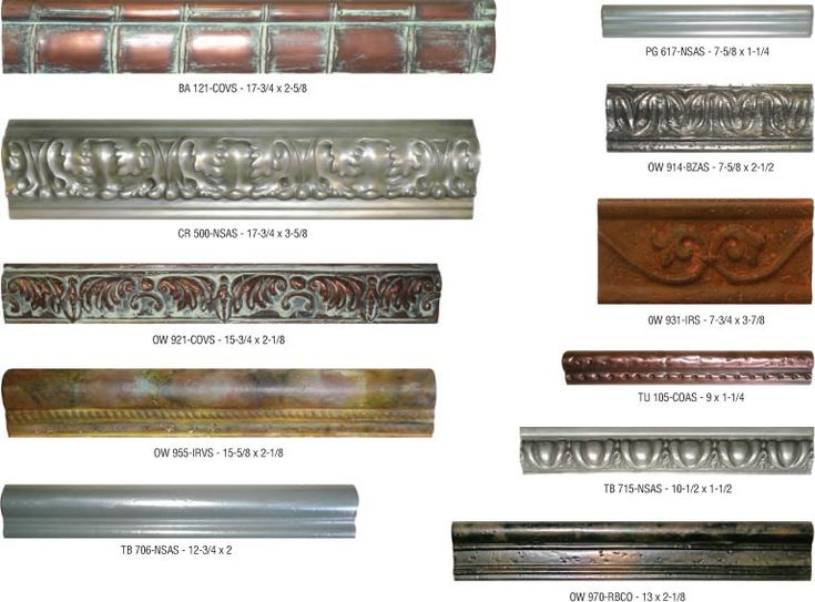 Exceptional Surfaces | Products |Creative Metal Tiles | Bullnose and Chair Rails