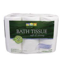 Field Day 100% Recycled Double Roll Bath Tissue 12 Rolls, 300 Sheets (Pack of 4) ( Value Bulk Multi-pack) by Field Day. $202.19. MULTI VALUE PACK! You are buying 5 packs. Each pack contains 4 units. You will receive a TOTAL PACKAGE QUANTITY of 20 combined units. Quantity: BULK PACK OF 5 packs. Each pack contains 4 units. Multi-Pack Package Quantity 20 UNITS Description: BATH TISSUE,DBL,100% RCL . (In case of confusion on contents of this multi-pack - please email sel...