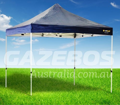 x OZtrail Deluxe Gazebo with Navy Blue Canopy : oztrail gazebo tent attachment - memphite.com