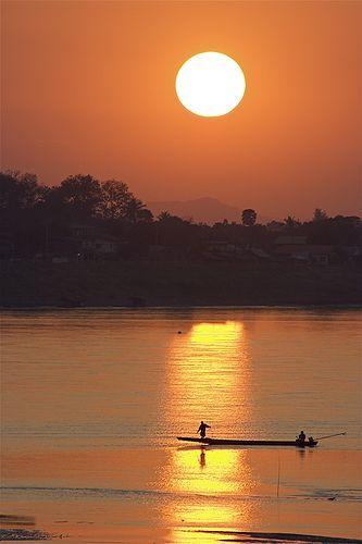 SUNSET ON THE MEKONG, Laos