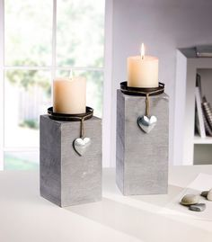 """Kerzenhalter """"Little Heart"""", 2er Set jetzt für 15,50 € kaufen im Frank Flechtwaren und Deko Online Shop"""