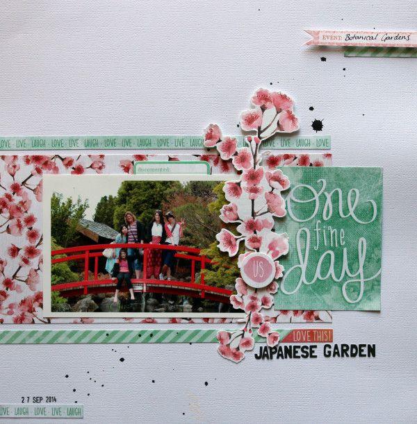 "Japanese Garden Kaisercraft ""Cherry Blossom"""