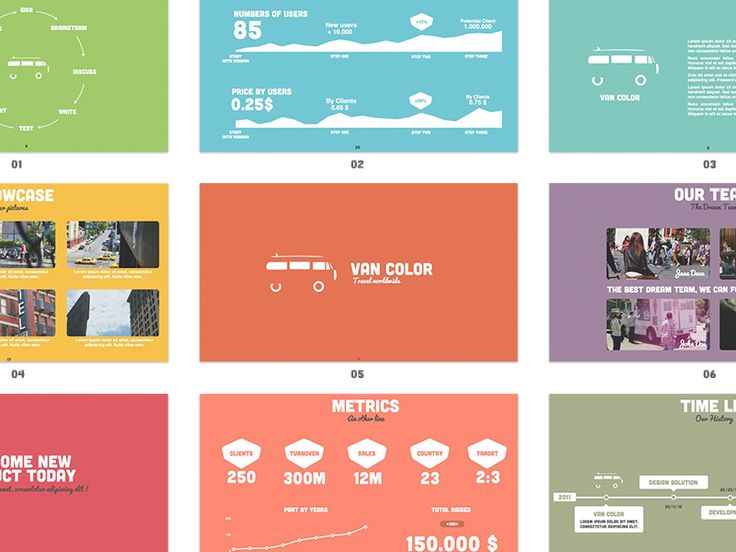 colorful well designed keynote template