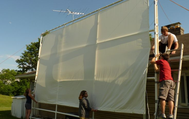 Diy outdoor movie screen 300 inches this is the size i want