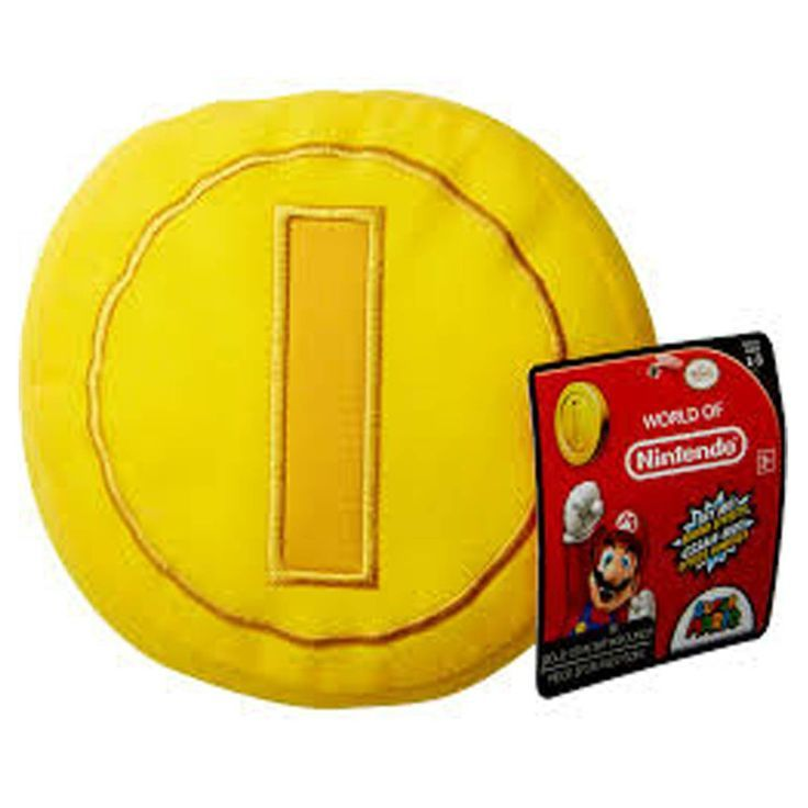 This is super cool! This is a Super Mario World Of Nintendo Coin With Sound Plush Figure. The Super Mario Coin plush figure is produced by Jakks Pacific and features the iconic coin sound effects from