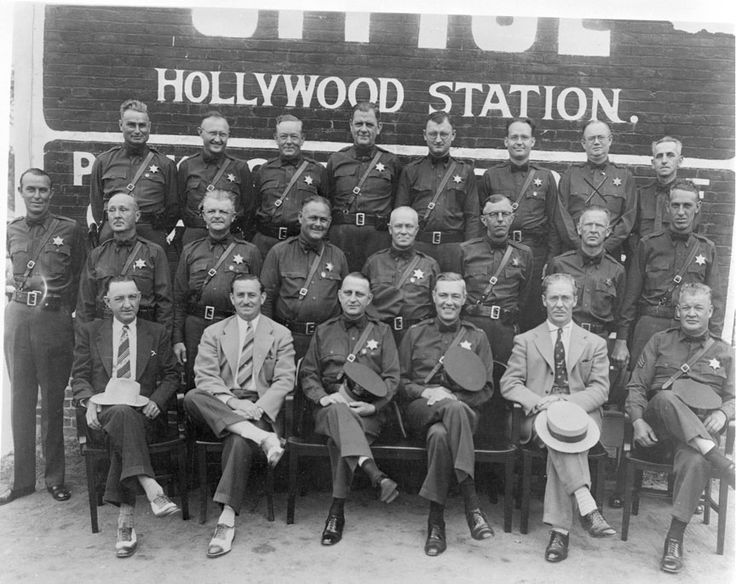 Hollywood sheriffs station 1930s los angeles police