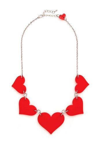 To Her with Love Necklace - Red, Solid, Silver, Better, Valentine's