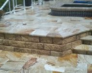 Check out one of our recent travertine cleaning and sealing projects in Tampa, Florida. #pavers #tampa #patio #DIY