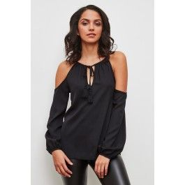 Cold shoulder blouse from Urban Planet is the latest trend.