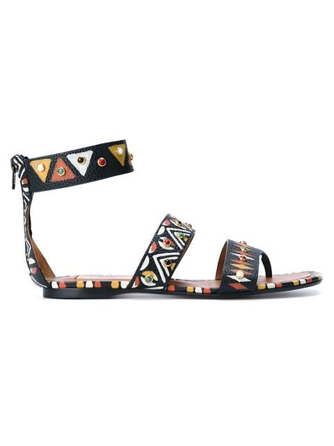 Shop Valentino Valentino Garavani hand painted thong sandals.