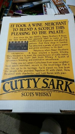 Vintage Cutty Sark Scotch whisky magazine ad in Fort Myers, FL (sells for $3)