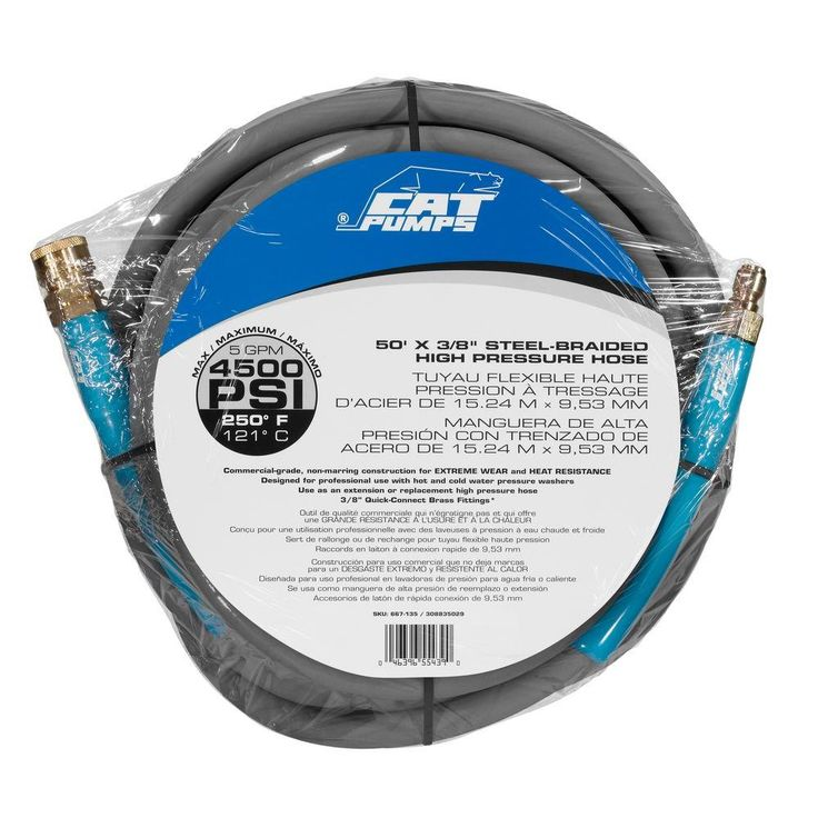 cat pumps 50 ft 4500psi 5gpm hot water pressure washer hose