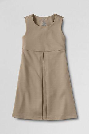 School uniform girls' ponté pleated jumper. Shop more uniform styles at Lands' End