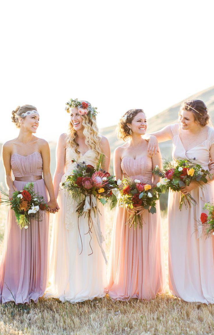 The easiest way to mix and match bridesmaid dresses | Weddington Way
