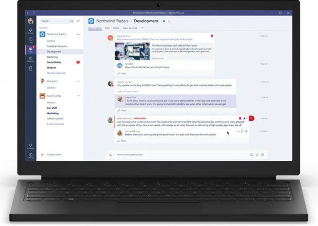 Microsoft lancia Teams il rivale di Slack per gestire il lavoro di squadra