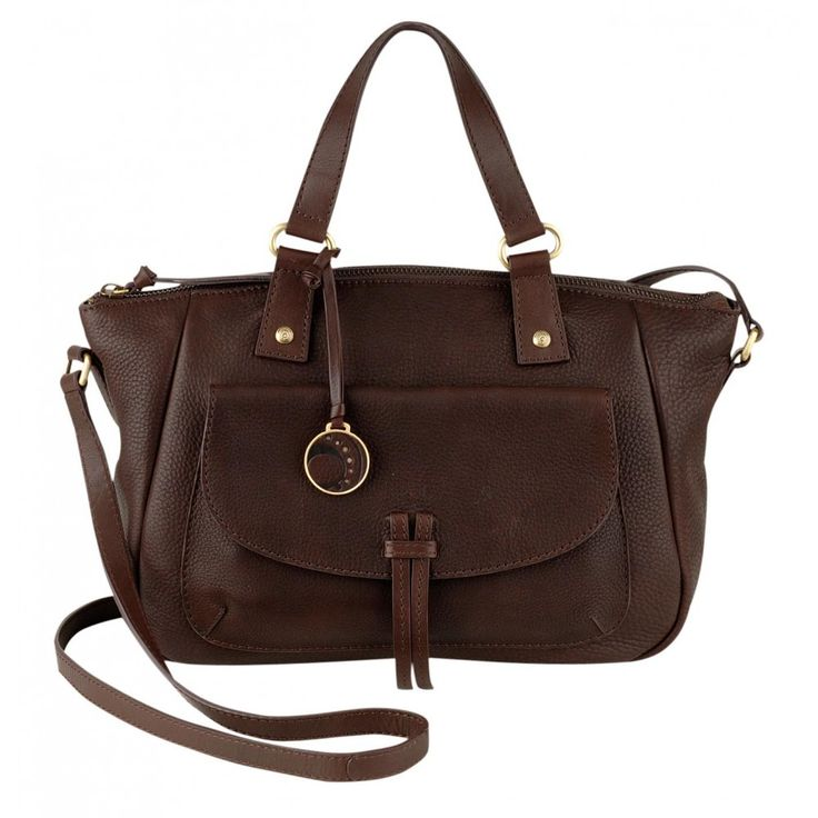 Ochre Blue Courtney Medium Zip Top Grab Bag Brown