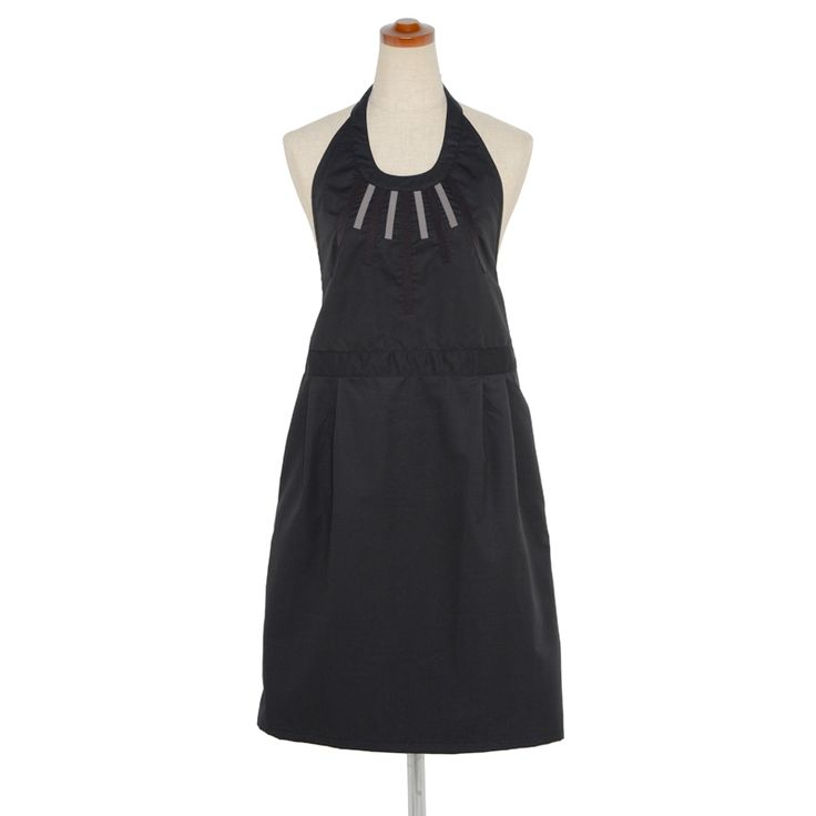 Halterneck apron-black