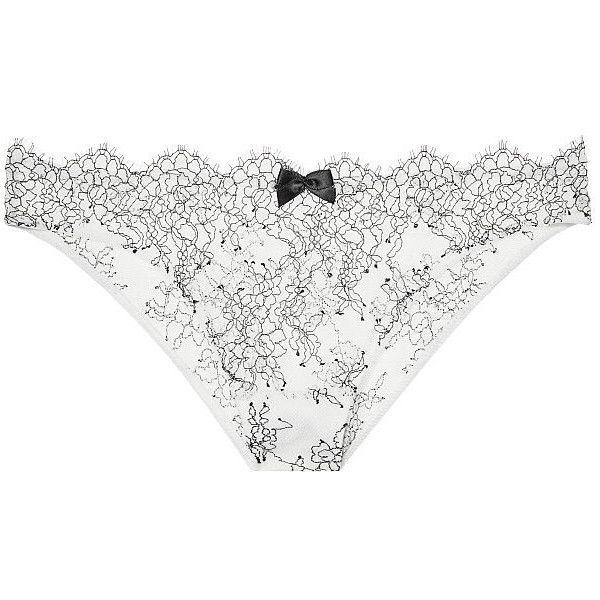 Victoria's Secret Chantilly Lace Bikini Panty (285 RUB) ❤ liked on Polyvore featuring intimates, panties, bikini panties, sheer bikini, low rise bikini panty, victoria secret panties and transparent bikini