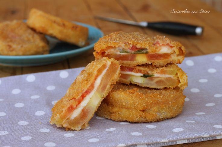 Sandwich di pomodori fritti