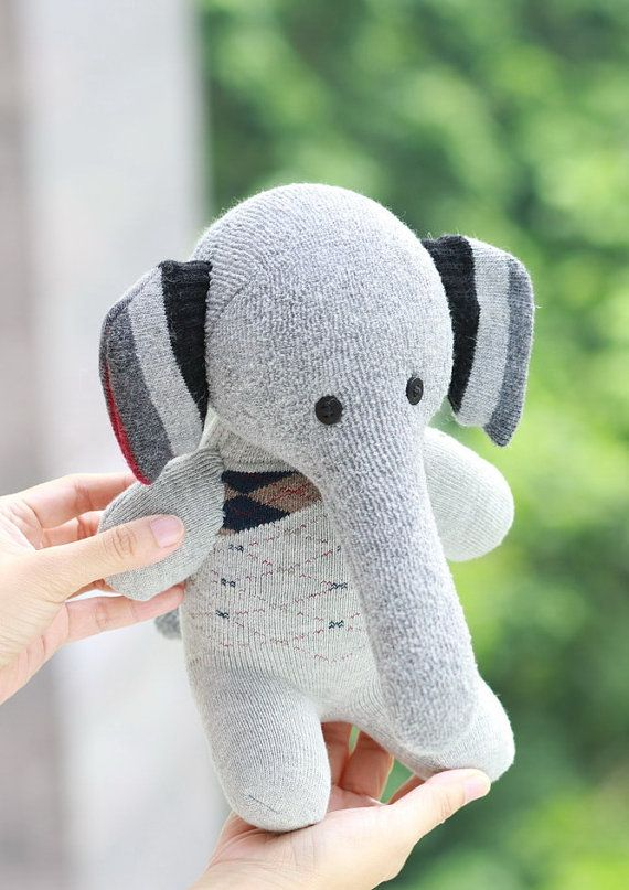 Kawaii  Plush Elephant  Personalized stuffed by Toyapartment