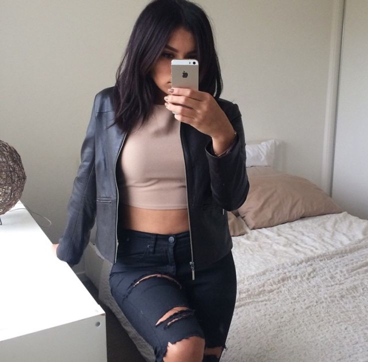 exceptional baddie outfits leather jacket boots