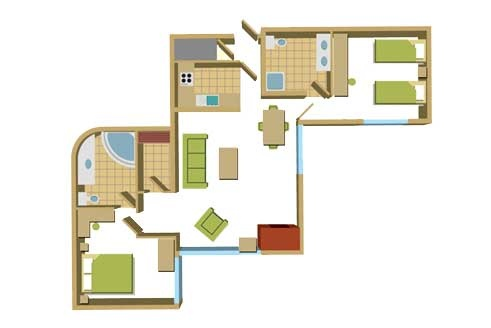 Two Bedroom Floorplan Example