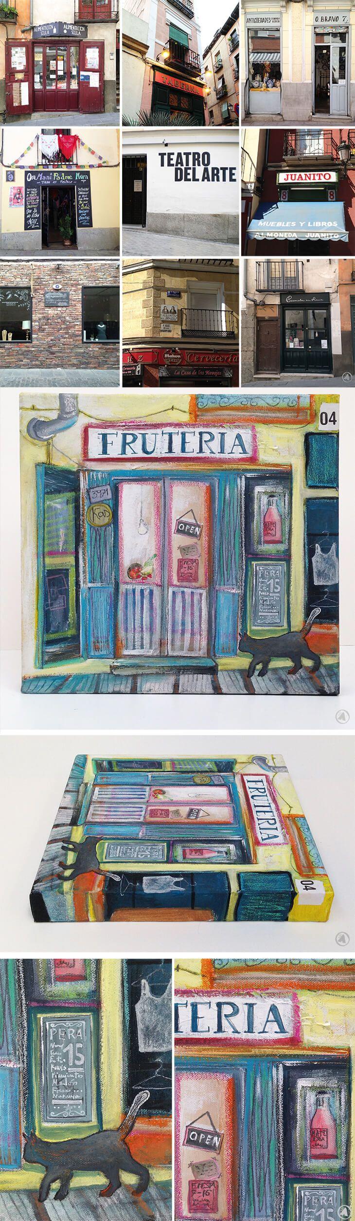 De kleine winkels..., artikel, schilderijen en foto's over de kleine Spaanse winkels van Angeles Nieto voor AngelesEarth.com