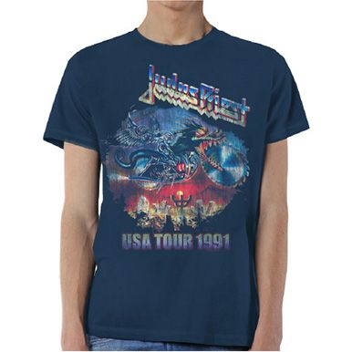 Judas Priest Men's Tee: Painkiller US Tour 91 Wholesale Ref:JPTEE12MN