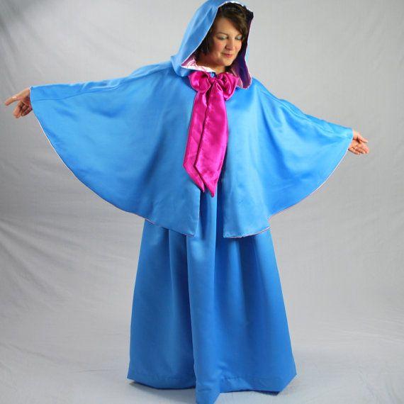 Fairy Godmother, Skirt & Cape Set, Twilight Blue