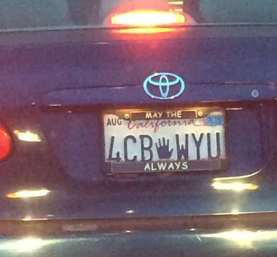 Best License Plate And Frame I've Seen