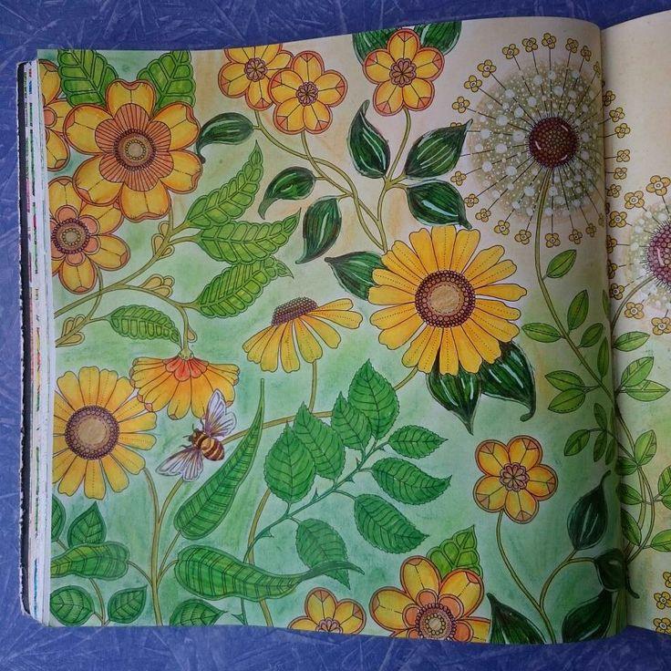 Gizemli orman, Johanna Basford, Faber-Castell Soft pastel, Monami Kuru boya,