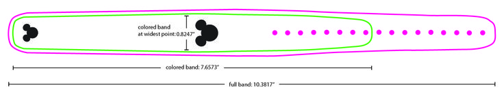 Magic band template.