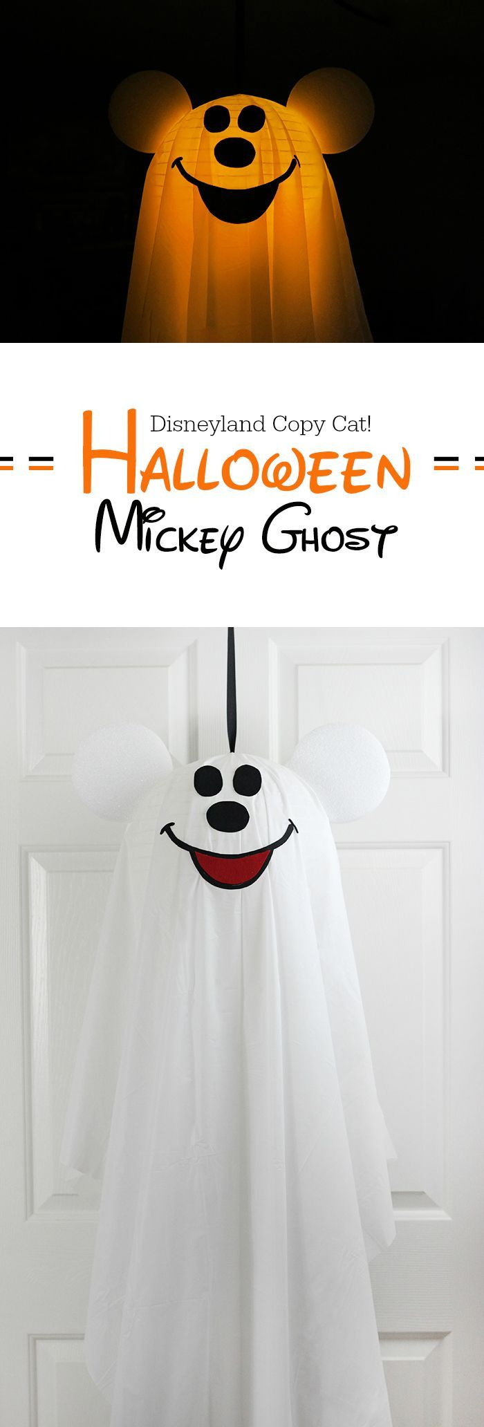 DIY Mickey Halloween Ghost. Copy Cat from Disneyland.