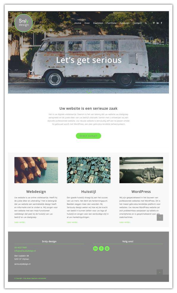 Website Seriously design