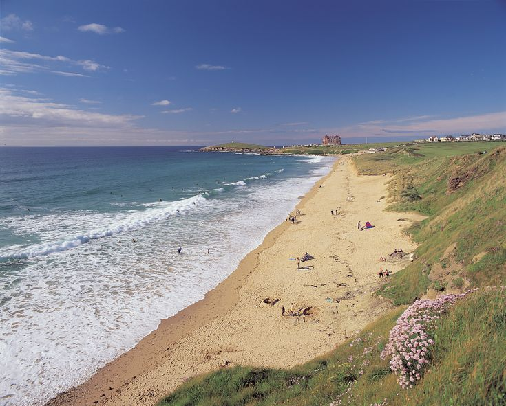 Fistral Beach in Newquay, Cornwall. One of the best beaches for surfing in the UK