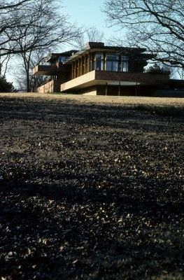 Harold Price Jr. Residence. Bartlesville, Oklahoma 1953. Frank Lloyd Wright. Usonian Style. (William Wesley Peters added a playroom to the original structure)