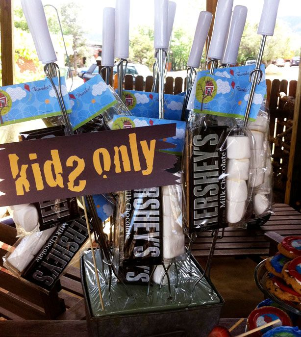 Tree house picnic party favors! S'mores! | thecelebrationshoppe.com