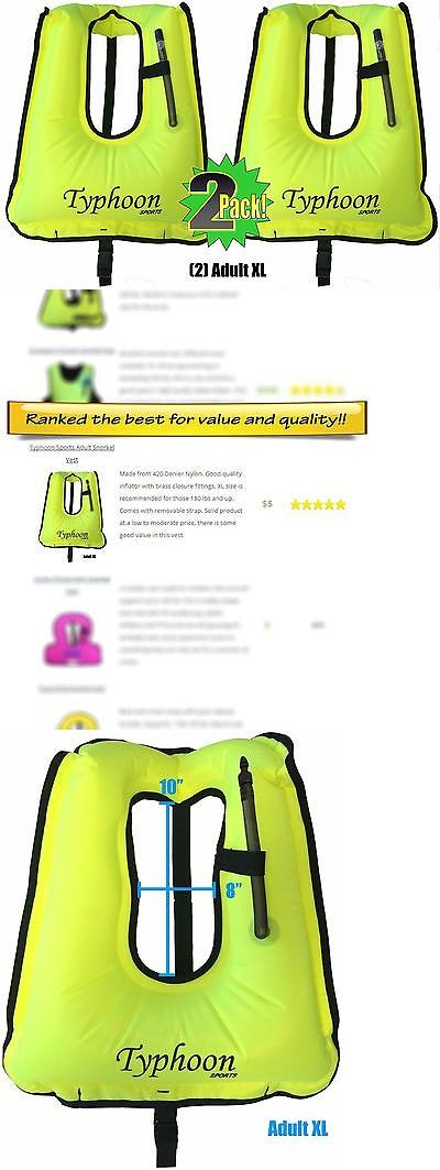 Buoyancy Compensators 16053: Snorkel Vests 2 Pack Snorkeling Adult Xl Size 180Lbs And Up High Viz Neon Yellow -> BUY IT NOW ONLY: $46.36 on eBay!