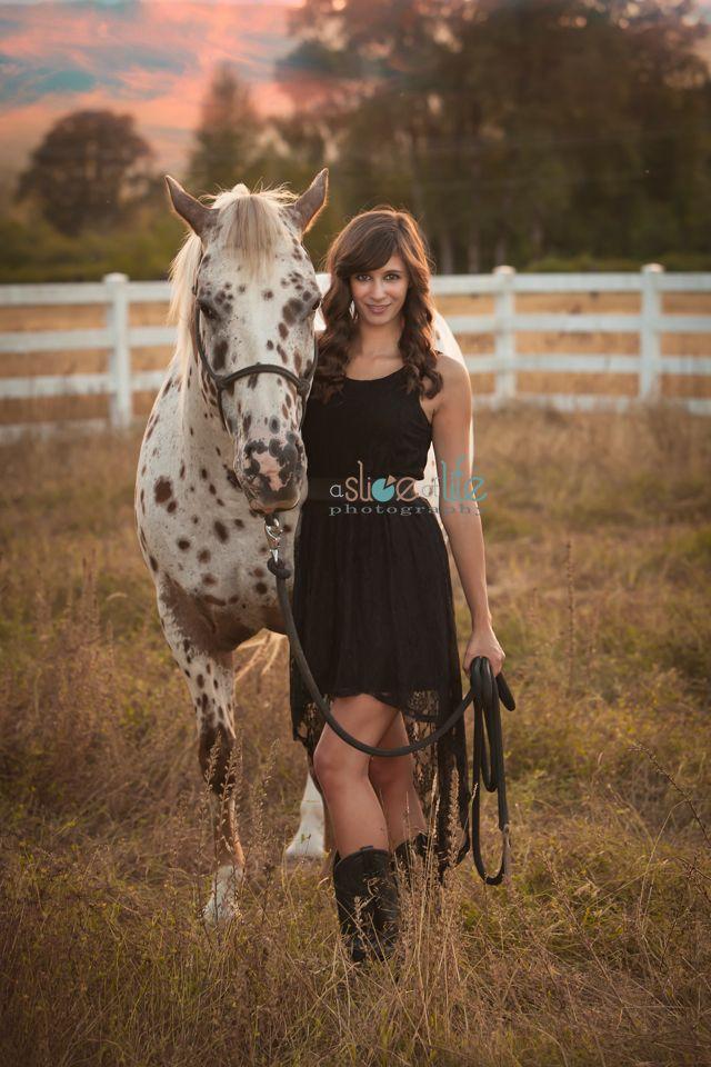 Senior girl portrait idea with her horse