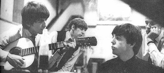 At Abbey Road studio, 1963