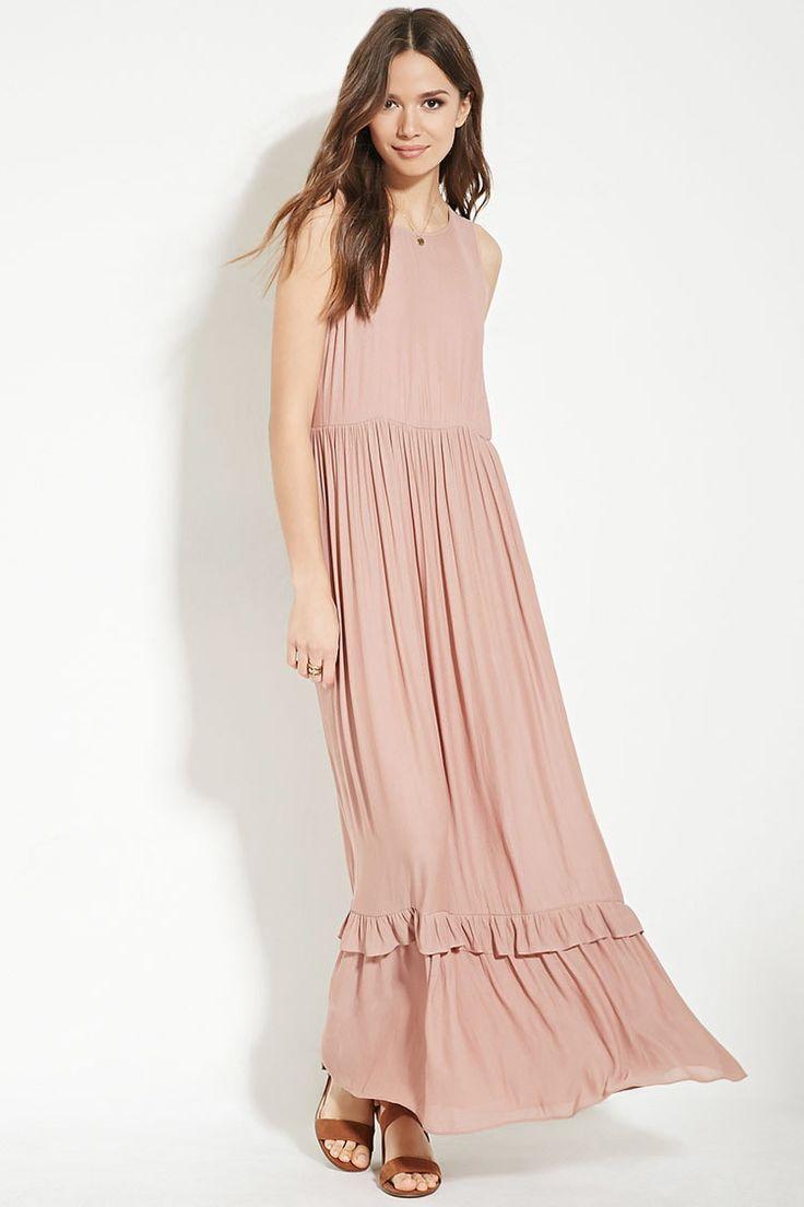 Contemporary Ruffled Maxi Dress