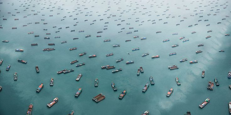 Container transport in West Lamma Channel, South China Sea – by Marcus Lyon
