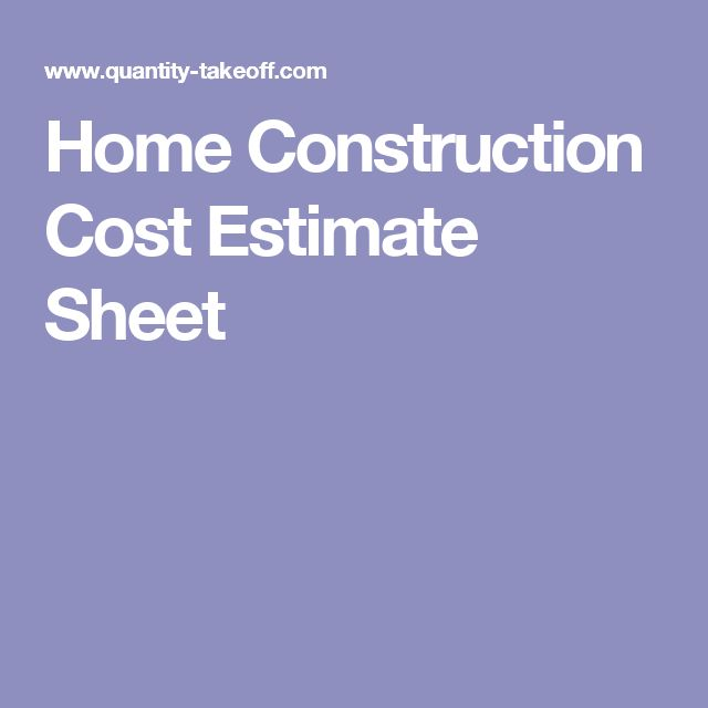 17 best ideas about construction cost on pinterest home for House construction estimator