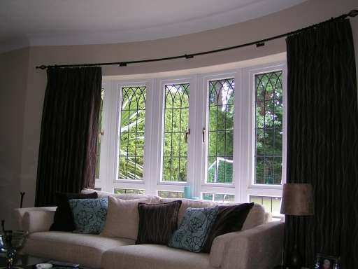 bay window country curtain ideas   Country style curtains for bay windows   Home style ...