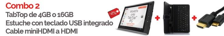 TabTop 4GB + Estuche con teclado + cable miniHDMI a HDMI $2,905 pesos   TabTop 16GB + Estuche con teclado + cable miniHDMI a HDMI $3,375 pesos  Envío Gratis a toda la República Mexicana